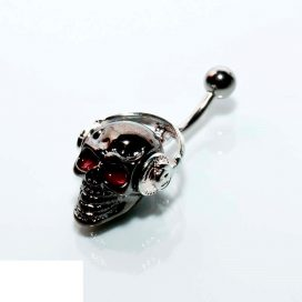 Headphone-skull navlepiercing